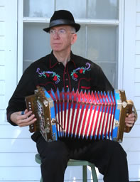 Gerard Dole playing accordion